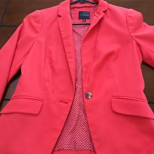 The Limited Salmon colored 3/4 sleeve blazer